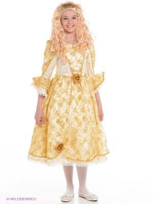 Карнавальный костюм Золушка золотая Батик. Цвет: золотистый