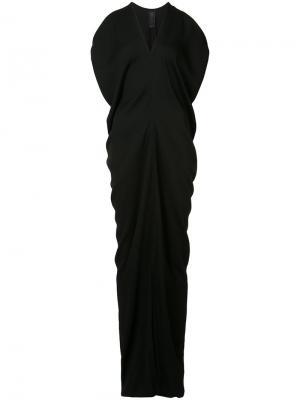 Драпированное платье-макси Zero + Maria Cornejo. Цвет: чёрный