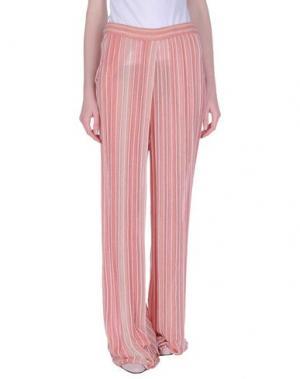 Повседневные брюки DEVOTION. Цвет: лососево-розовый