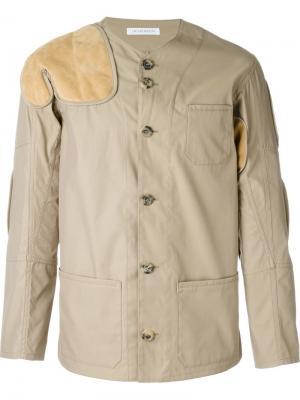 Куртка с нашивками J.W.Anderson. Цвет: телесный