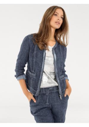 Жакет B.C. BEST CONNECTIONS by Heine. Цвет: белый, джинсовый синий, серо-коричневый