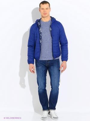 Куртка Sisley. Цвет: темно-синий