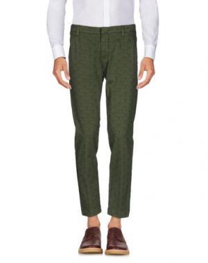 Повседневные брюки ENTRE AMIS. Цвет: зеленый-милитари