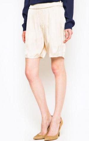 Бежевые шорты из вискозы Marc O'Polo. Цвет: бежевый