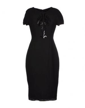 Платье до колена IRIS VAN HERPEN. Цвет: черный