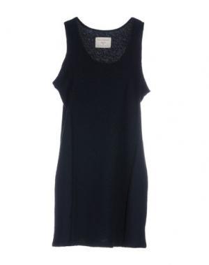 Короткое платье FINE COLLECTION. Цвет: темно-синий
