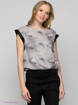 Блузка Vero moda. Цвет: серый, черный, темно-синий