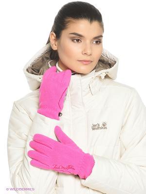 Перчатки NANUK PAW GLOVE W Jack Wolfskin. Цвет: розовый