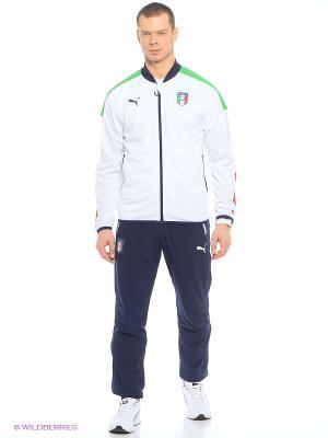 Толстовка FIGC Italia Stadium Jacket Puma. Цвет: белый