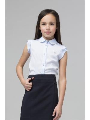 Блузка SILVER SPOON. Цвет: голубой