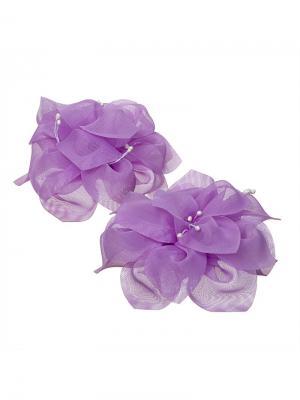 Бант Очарование фиолетовый 2шт Миниледи. Цвет: фиолетовый