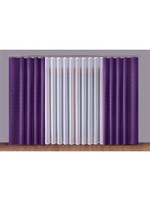 Комплект штор P Primavera Firany. Цвет: фиолетовый