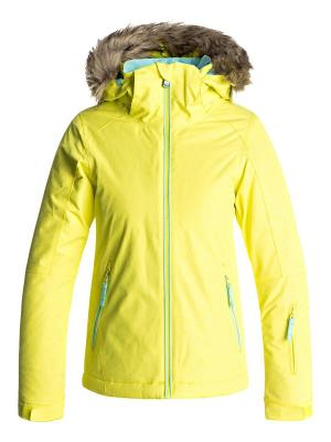 Куртка ROXY. Цвет: светло-желтый, коричневый