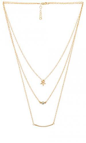 Ожерелье silvie Mimi & Lu. Цвет: металлический золотой