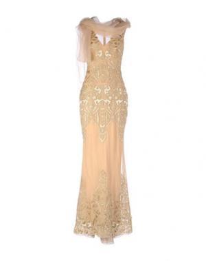Длинное платье ZUHAIR MURAD. Цвет: верблюжий