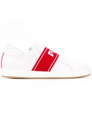 Strap trainers Philippe Model. Цвет: белый