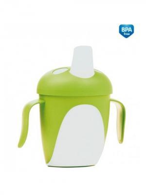 Чашка-непроливайка, 240 мл. Penguins 9+, цвет: зеленый Canpol babies. Цвет: зеленый