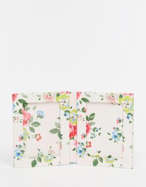 Cath Kidston Двойная рамка для фотографии 8x10. Цвет: белый