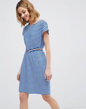 MiH Jeans Платье в полоску с поясом M.i.h. Цвет: синий