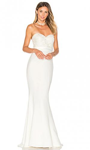 Вечернее платье kiara Elle Zeitoune. Цвет: белый