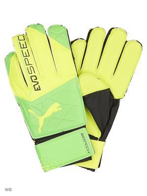 Перчатки вратарские evoSPEED 5.5 Puma. Цвет: желтый
