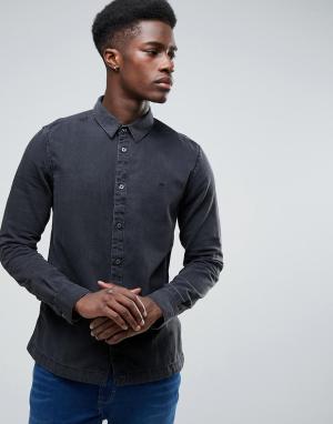 Waven Черная рубашка. Цвет: черный