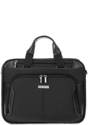 Текстильная сумка с широким плечевым ремнем Samsonite. Цвет: черный