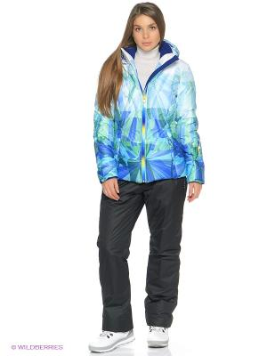 Куртка Stayer. Цвет: голубой, белый, бирюзовый