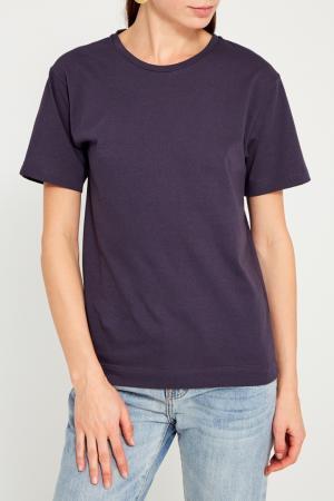 Серая хлопковая футболка BLANK.MOSCOW. Цвет: серый