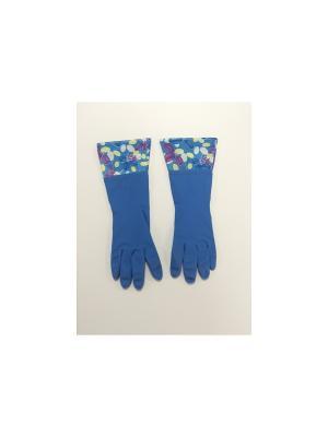 Перчатки латексные Magic Home. Цвет: синий