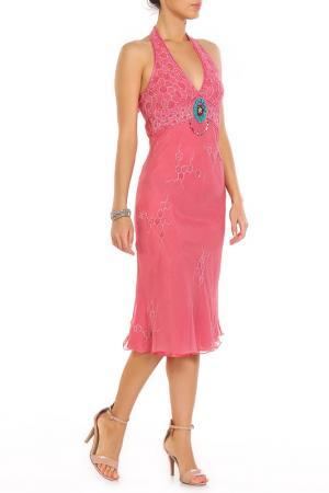 Платье Aftershock. Цвет: розовый