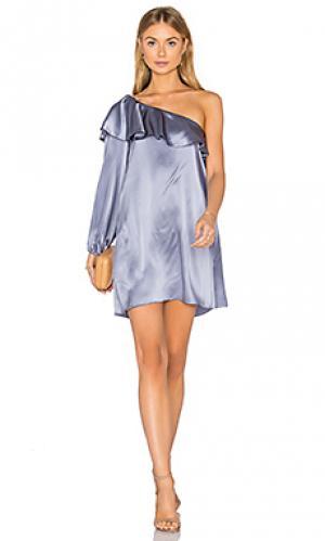 Платье luella Amanda Uprichard. Цвет: металлический серебряный