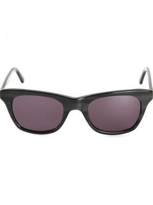Солнцезащитные очки Wayfarer Chandler X Selima Optique. Цвет: чёрный
