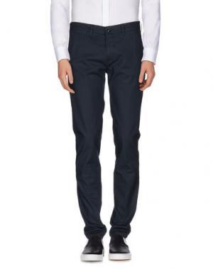 Повседневные брюки SARTORE. Цвет: темно-синий