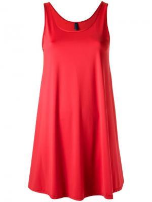 Пляжное платье с круглым вырезом Lygia & Nanny. Цвет: красный