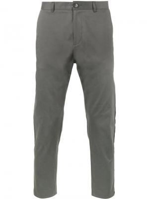 Укороченные брюки-чинос с лампасами Lot78. Цвет: серый