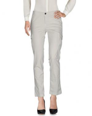 Повседневные брюки BE FOR Milano. Цвет: светло-серый