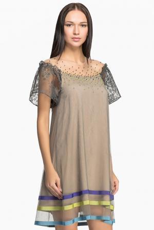 Платье 149698 Iya Yots. Цвет: бежевый