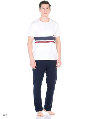 Пижама Tommy Hilfiger. Цвет: белый, темно-синий