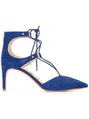 Туфли-лодочки Taylor на шнуровке Sam Edelman. Цвет: синий