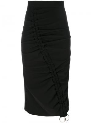 Присборенная юбка Marco Bologna. Цвет: чёрный