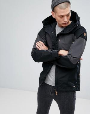 Fjallraven Черная куртка с карманами Keb. Цвет: черный