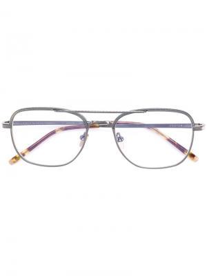 Square shaped glasses Masunaga. Цвет: серый
