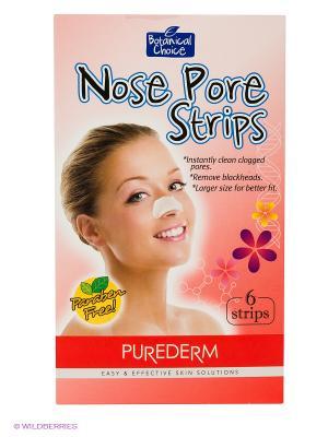 Гипоаллергенные очищающие полоски для носа Purederm. Цвет: красный
