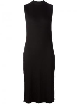 Платье-миди без рукавов Nomia. Цвет: чёрный