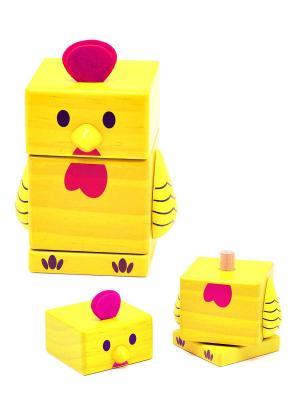 Пирамидка Цыпленок БОМИК. Цвет: светло-желтый