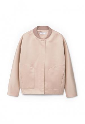 Куртка Mango. Цвет: розовый