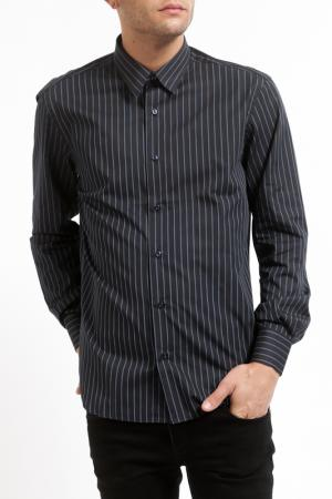 Рубашка Pierre Balmain. Цвет: black blue striped