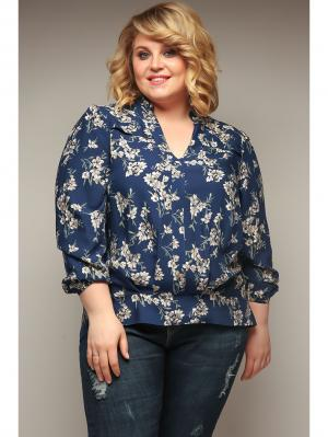 Блузка Jetty-plus. Цвет: синий