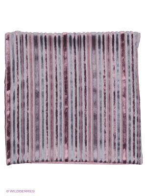 Декоративная наволочка 43х43, молния, бруснично-серые полоски Asabella. Цвет: лиловый, серый